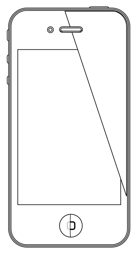 Free Coloring Pages Of Iphone 6 Iphone Coloring Page