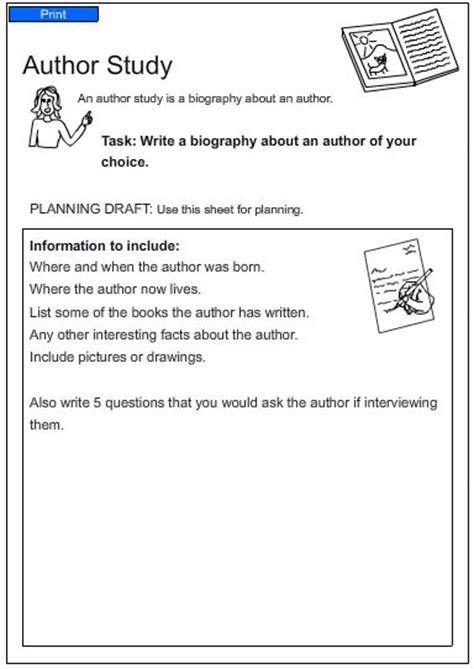 Author Study Worksheet by Studyladder Literacy Mathematics