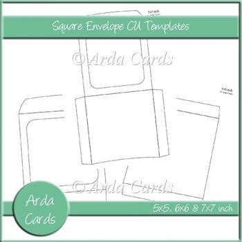credit card size envelope template square envelope cu templates 163 2 50 commercial use scraps