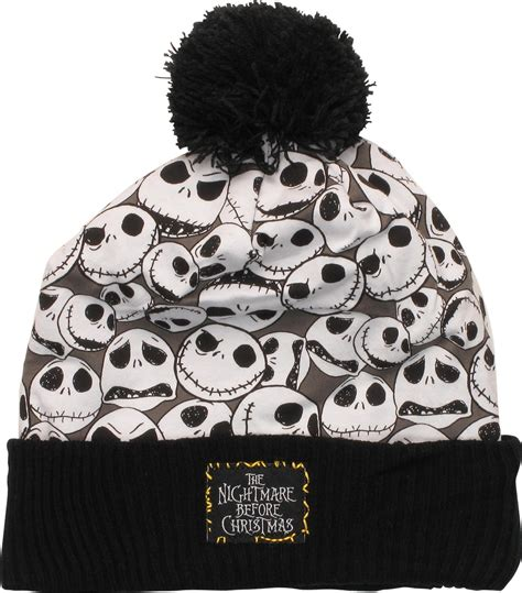 the nightmare before merch nightmare before collage cuffed pom beanie