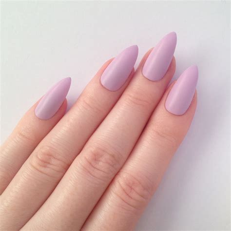 Matte Lilac Stiletto Nails Nail Designs Nail By