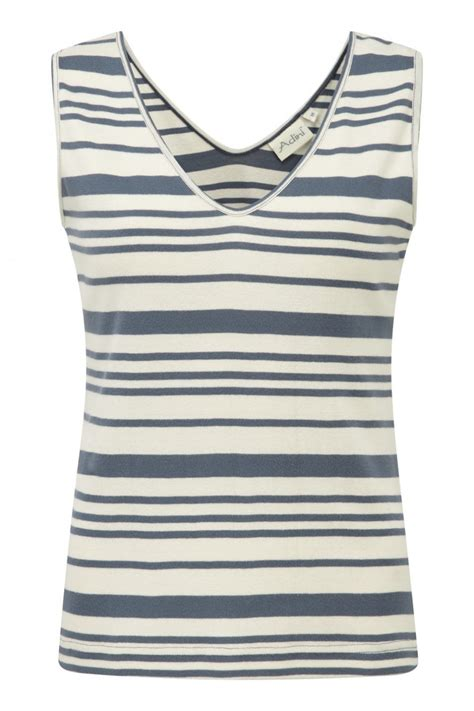 Channel Top Striped a popluar styled sleeveless top from adini semi fitted