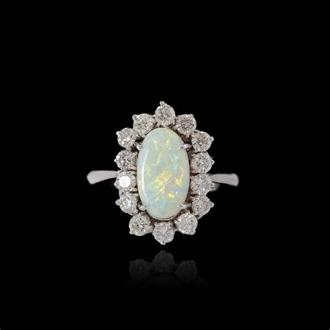 gold opal and diamonds ring expertissim