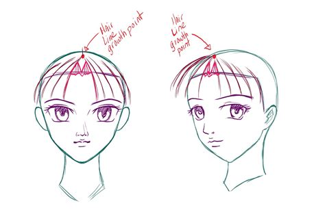 how to draw bangs how to draw anime hair draw central