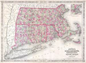Map Of Massachusetts And Rhode Island by File 1864 Johnson S Map Of Massachusetts Connecticut And