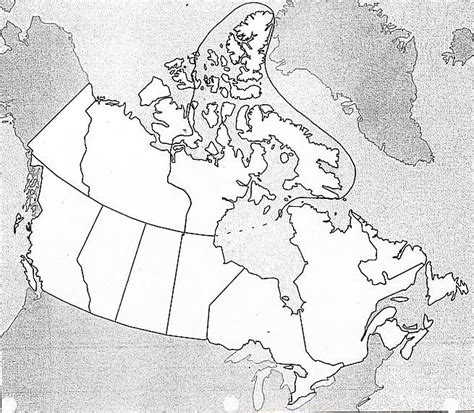 blank maps of canada for labelling blank map of canada to label