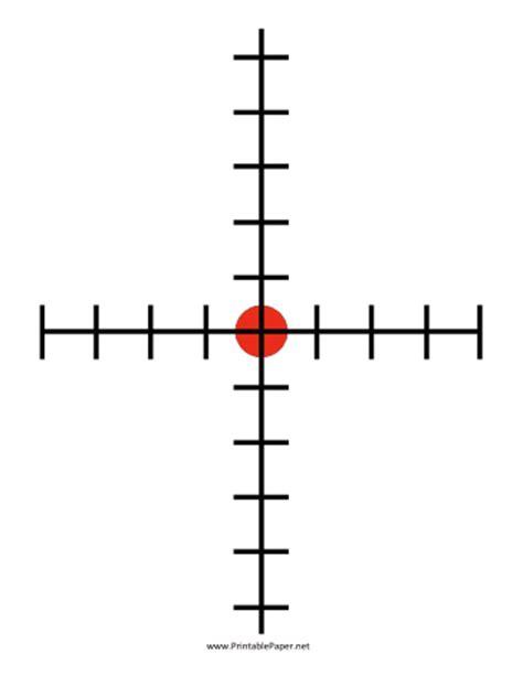 printable crosshair targets printable crosshairs target