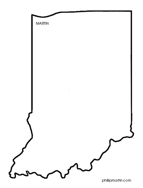 indiana state map coloring page state 20clipart clipart panda free clipart images