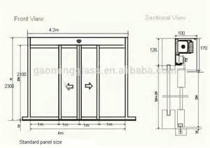 Sliding Glass Door Size Standard Taille Personnalis 233 E Automatique Porte Coulissante En Verre Portes Id De Produit 1863794807
