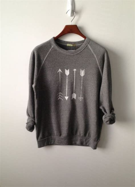 arrow ch sweatshirt by greythread on etsy oversisedsweaters my style