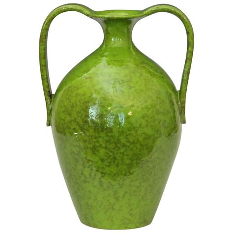 Lime Green Floor Vase by Vintage Italica Ars 1960 S Italian Pottery Vase In