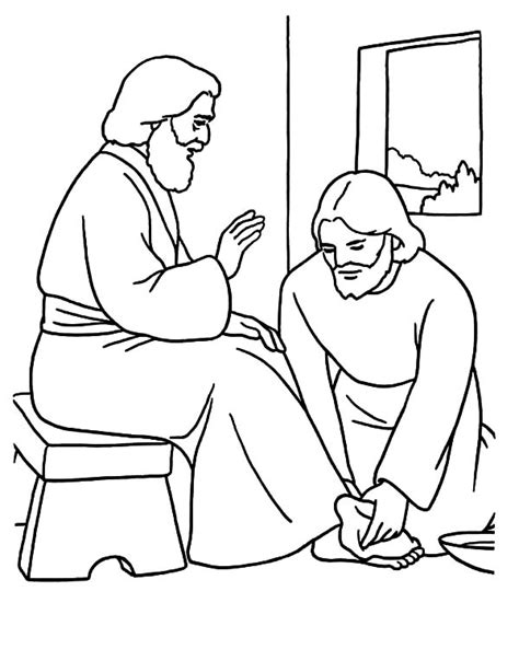 Kindness Kindness Jesus Washing Feet Coloring Pages Jesus Washes The Disciples Coloring Page