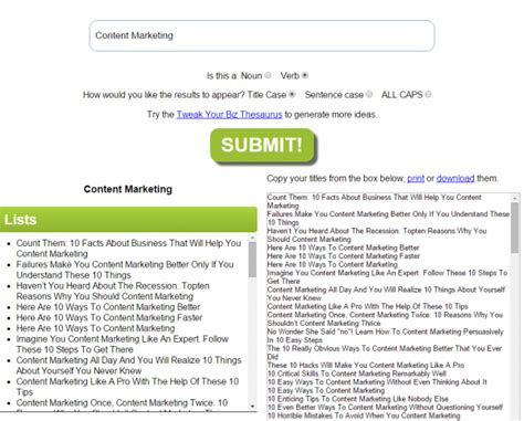biography title generator 7 life saving tools to generate more blog titles right now