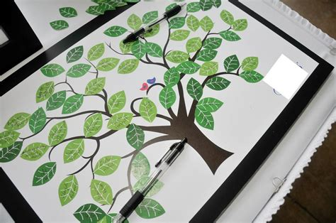 My Family Tree Include Family Tree Poster And 100 Stickers guestbook tree vicki s weddingseptember 10 2011