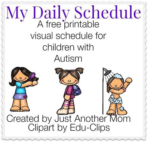 printable picture schedule autism my daily schedule a free printable visual schedule