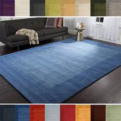Carpets And Area Rugs Loomed Risor Solid Bordered Wool Area Rug 7 6 X 9 6 Free Shipping Today Overstock