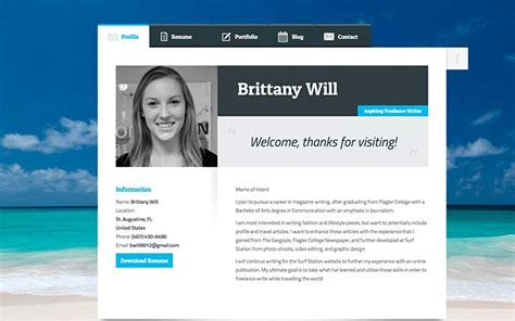 Cv Website by Create A Resume Website Build A Personal Website Portfolio