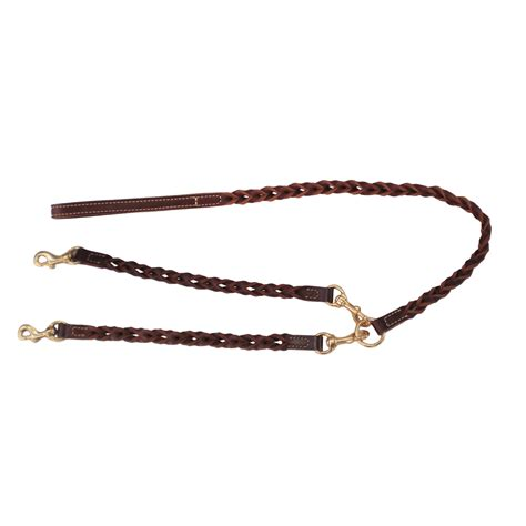 two leash woven leather two leash coupler coyote company leather