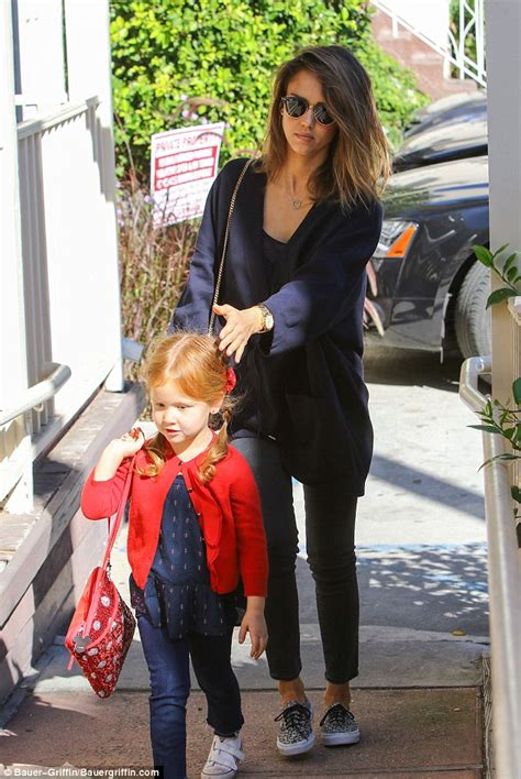 Alba Forced Out by Alba Goes Casual In Navy Cardigan And To