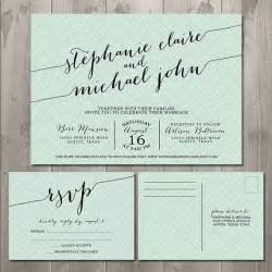 zig zag handwriting wedding invitation suite diy printable wedding invitation and rsvp card