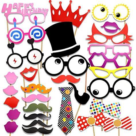 Photobooth Selfie Happy Wedding Birthday Wedding Wisuda veewon accessoires photobooth pour f 234 te d anniversaire photos moustache cadres lunettes