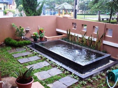 Lu Led Kolam Ikan desain taman rumah minimalis dengan kolam ikan taman
