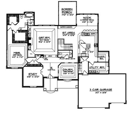 reinhardt luxury ranch home plan 051s 0058 house plans