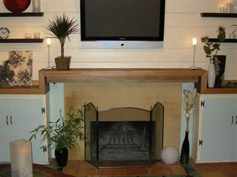 create a contemporary fireplace mantel hgtv