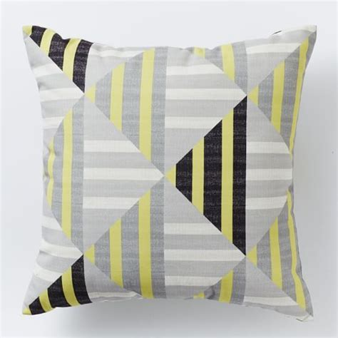 West Elm Outdoor Pillows by Outdoor Stripe Pillow West Elm Patio Home