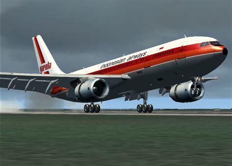 Air Jakarta garuda airways airbus a300b4 200ffcc for fsx