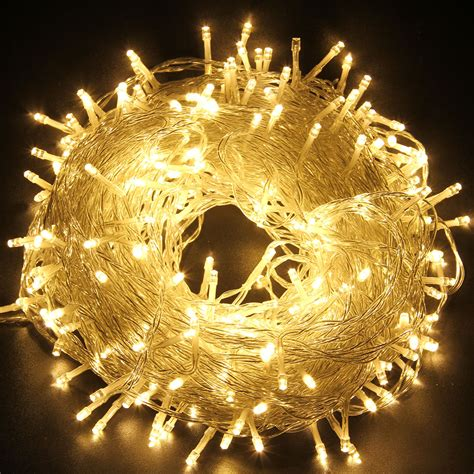 24v 250 leds 50m warm white string fairy lights for