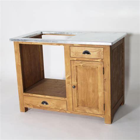 meuble d 騅ier de cuisine meuble de cuisine en bois pour four et plaques cagne