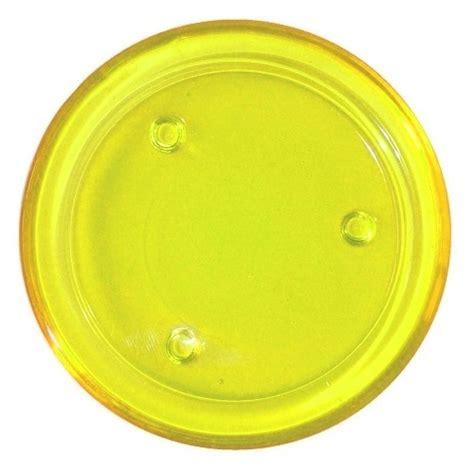 kerzenteller glas rund glasuntersetzer rund in gelb im tafeldeko kerzenteller
