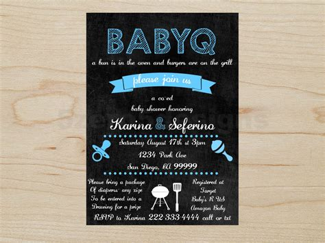 Babyq Invitation Baby Shower Boy Babyq Boy Babyq Shower Baby Q Invitations Templates Free