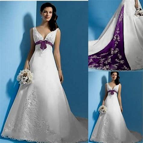 Custom Wedding Dresses Purple And White by Purple And White Wedding Dress With Sleeves Naf Dresses