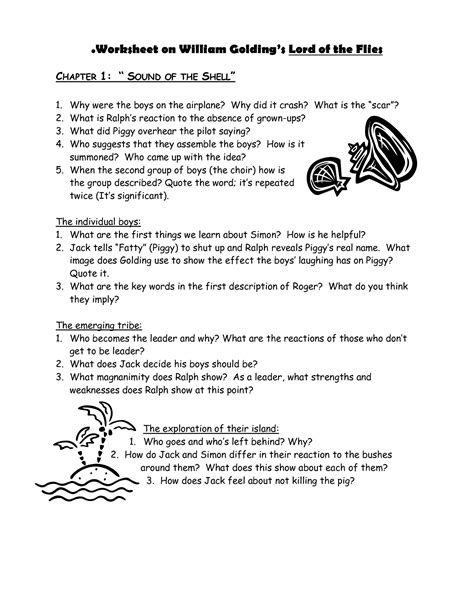 themes from lord of the flies worksheet answers embedding quotes worksheet quotesgram