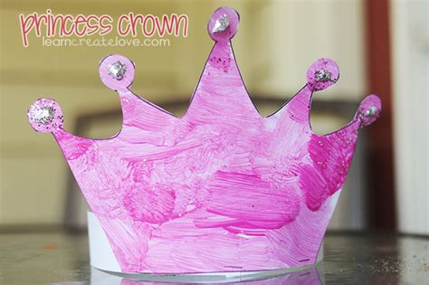 crown craft for princess crown craft with printable