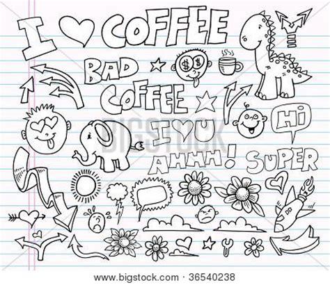 doodle clip notebook doodle clip design elements vector