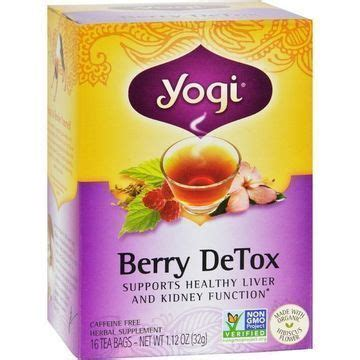 Berry Detox Tea by Yogi Detox Herbal Tea Caffeine Free Berry 16 Tea Bags
