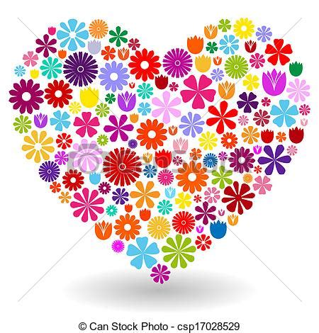 imagenes flores en forma de corazon ilustraciones de vectores de coraz 243 n flores hecho