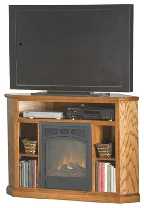 Corner Gas Fireplace Tv Stand by Fireplace Corner 51 Quot Tv Stand With Electric Fireplace