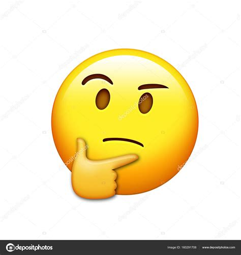 imagenes emoji pensando emoji amarillo cara pensando con el icono de la mano