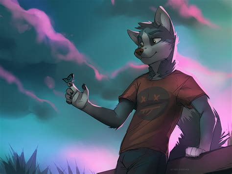 Anthro Wolf Drawing
