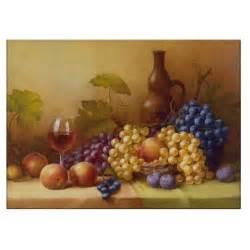 Decorative Fruit Bowl tuscany grapes kitchen decor