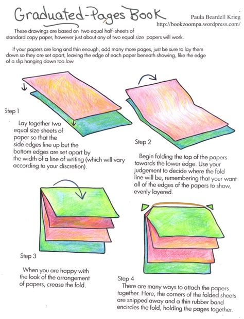 How To Make A Small Booklet Out Of Paper - how to make a graduated pages book playful bookbinding