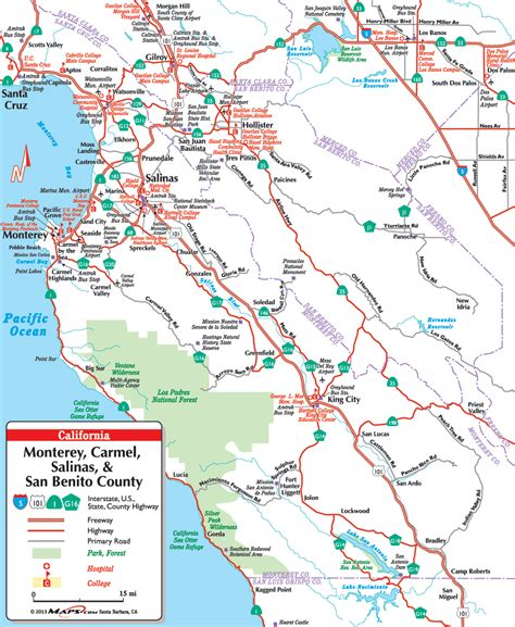 california map monterey county your resource for local maps in monterey ca
