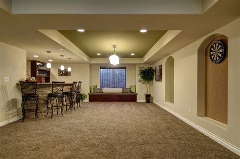 basement dart board bar traditional basement