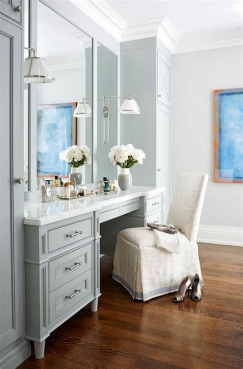 makeup area in bedroom makeup vanity transitional bathroom anne hepfer designs