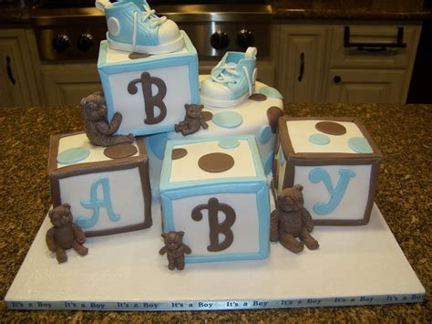 Baby Shower Cakes With Blocks by Blocks Bears Baby Shower Cake Cakecentral