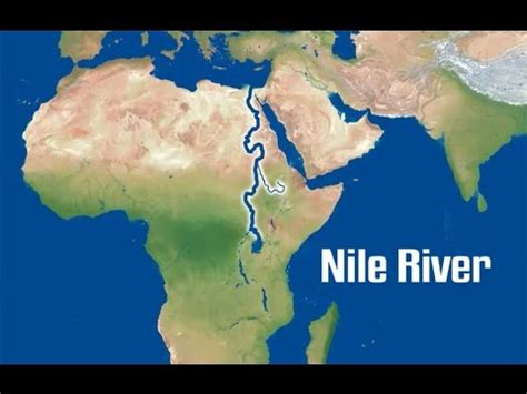 nile river on a map the nile river